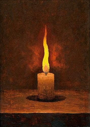 高島野十郎「蝋燭」