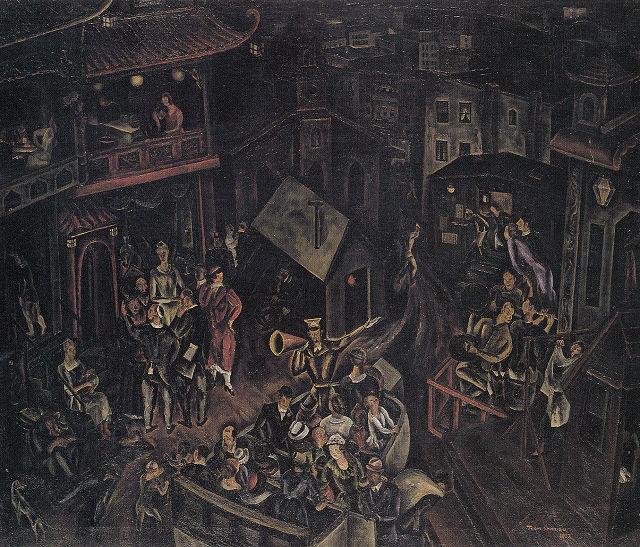 清水登之「ニューヨーク、寄のチャイナタウン」栃木県立美術館蔵