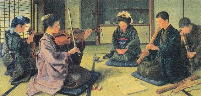 彭城貞徳「和洋合奏図」