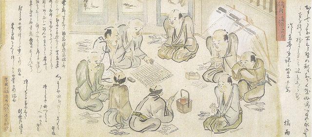 三谷勝波方信「江戸勤番絵巻」(部分)