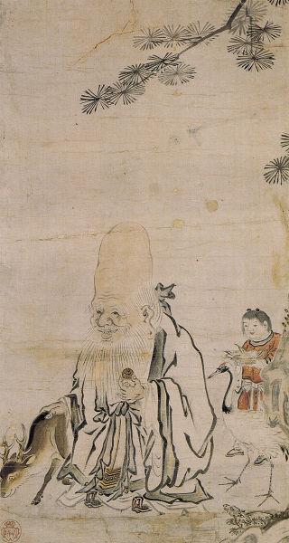 狩野友巴(狩野宗俊)「寿老人図」