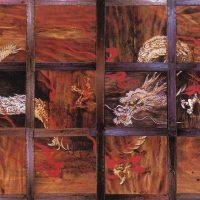群馬県内外43カ所の寺院に天井画を描いた林青山