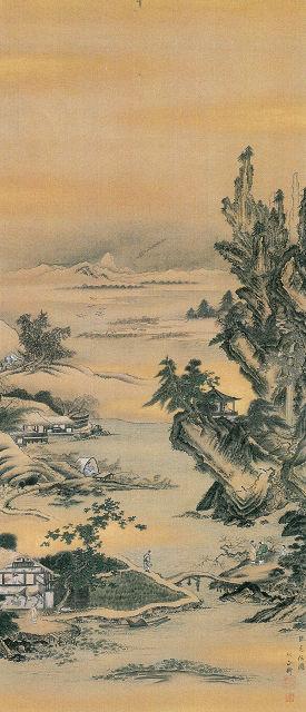 堀田正衡「山水図」栃木県立博物館蔵