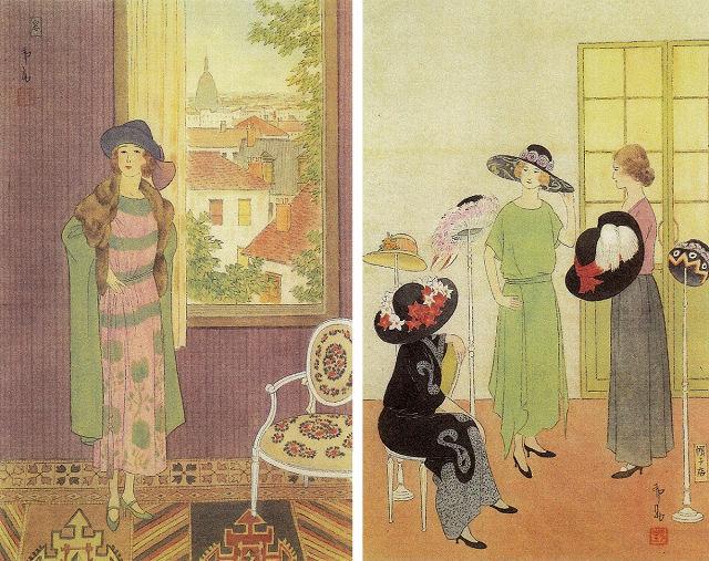 左:橋本邦助「窓」 右:橋本邦助「帽子屋」