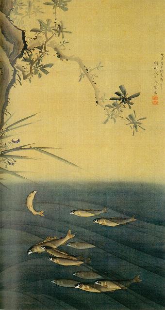 小泉斐「鮎図」栃木県立博物館蔵