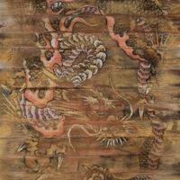 鱗が1枚欠けた蟠龍・御厨夏園による多久聖廟の天井画