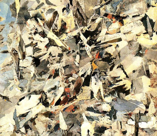 ポール・ホリウチ「地層と亀裂」(部分)