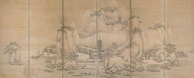 広渡雪山「金山寺図屏風」佐賀県立博物館蔵