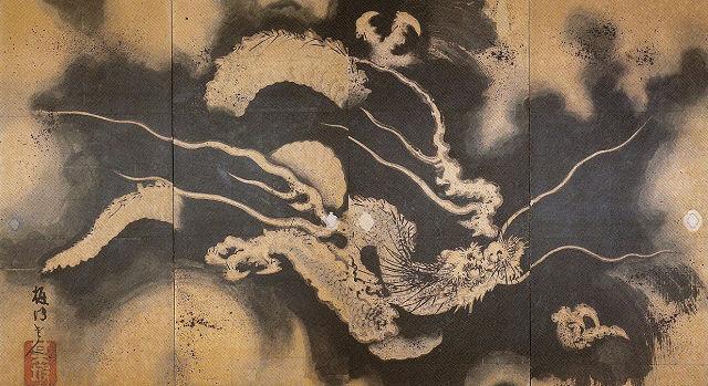 武居梅坡「雲龍図」大雲寺蔵
