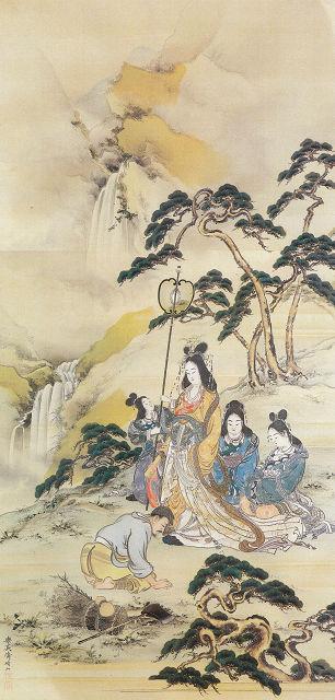 三村晴山「養老の滝」