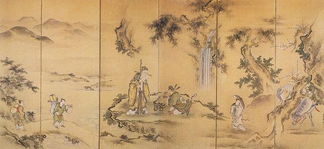 狩野梅二「故事人物図」