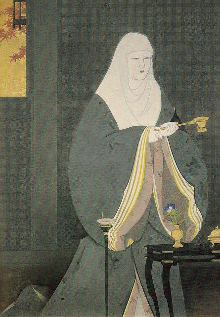 羽石光志「寂光院」栃木県立美術館蔵