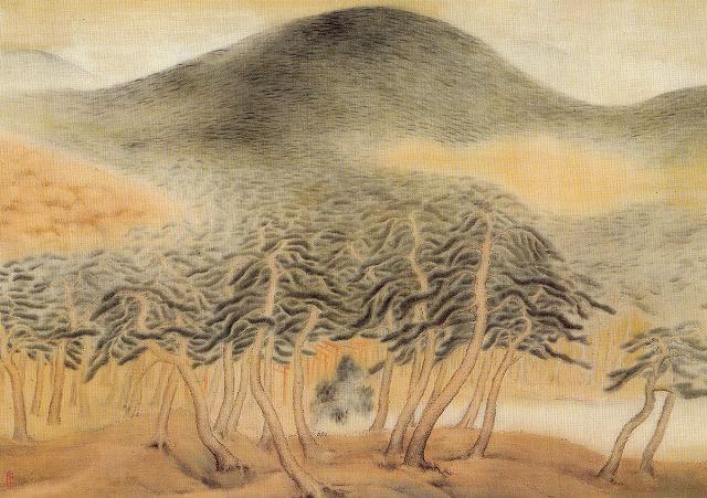 石川寒巌「松林図」栃木県立美術館蔵