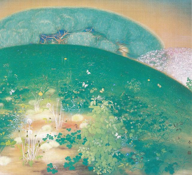 望月春江「春に生きんとす」山梨県立美術館蔵
