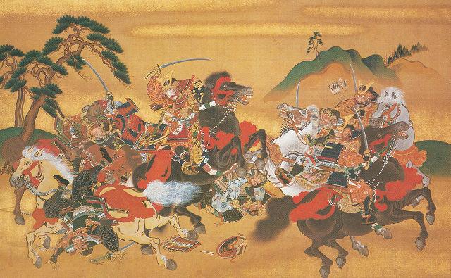 川辺御楯「南北朝時代戦争図」東京国立博物館蔵