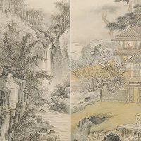 田崎草雲に学び伝統的南画を描いた岸浪柳渓