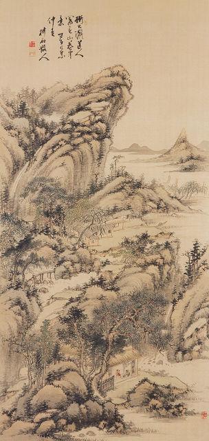 中西耕石「山水図」