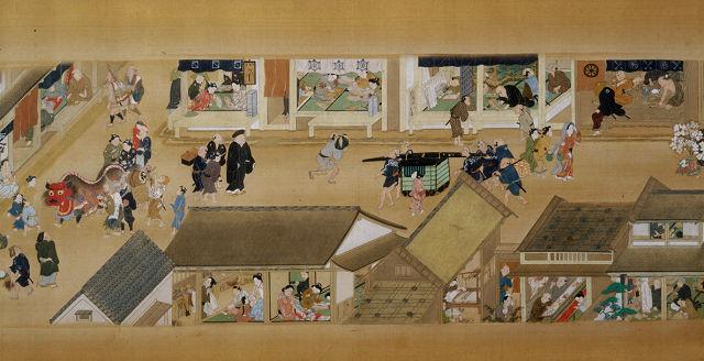 住吉具慶「洛中洛外図巻」(部分)東京国立博物館蔵