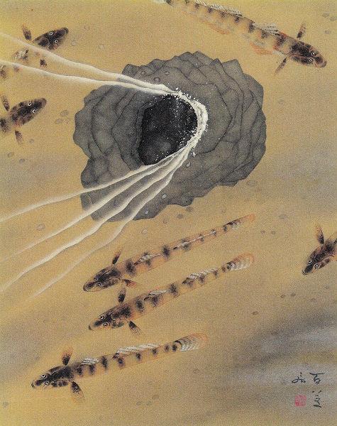 岸浪百艸居「岩と流れ(俯瞰構図)」