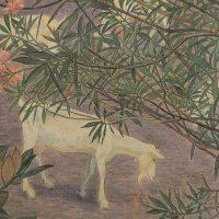 文展で「山羊の画家」として注目され、のちに風景画のスタイルを確立させた辻永