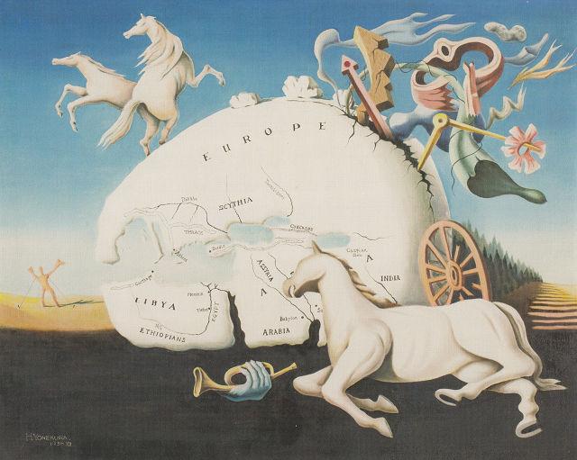 米倉寿仁「ヨーロッパの危機」山梨県立美術館蔵