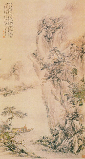 加藤半渓「赤壁図」