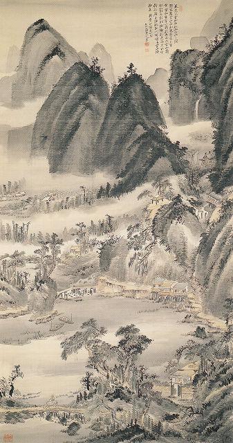 金井烏洲「米法山水図」
