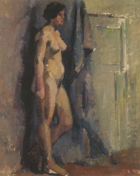 石原長光「裸婦」山梨県立美術館蔵