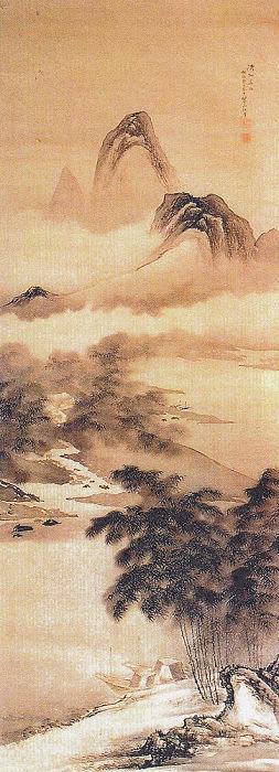 青木翠山「山水図」