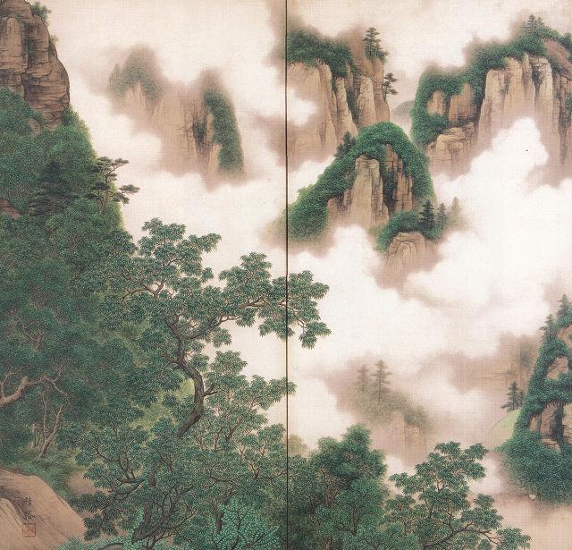 河内雅渓「昇仙峡之図」山梨県立美術館蔵
